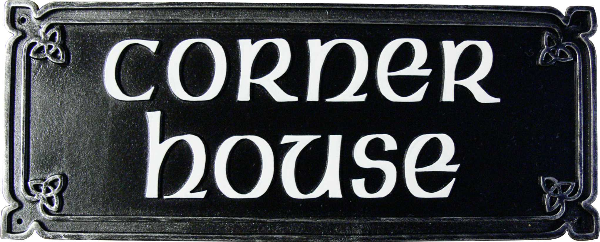 Cast Iron Celtic House Name Sign Lumley Designs