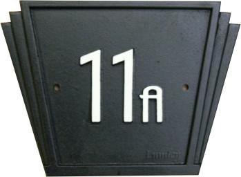 art deco house number sign lumley designs great britain. Black Bedroom Furniture Sets. Home Design Ideas