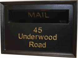 mailbox front plate
