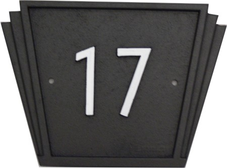 house number signs art deco style made by lumley designs