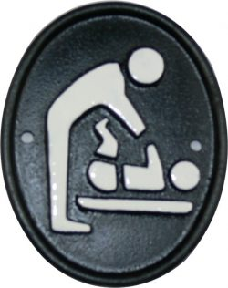 Baby changing room facility sign