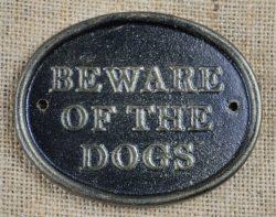 beware dogs plaque