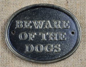 beware dogs plaque