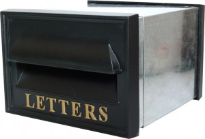 letter box integral designed to fit into wall space fitted integral wall letter boxes