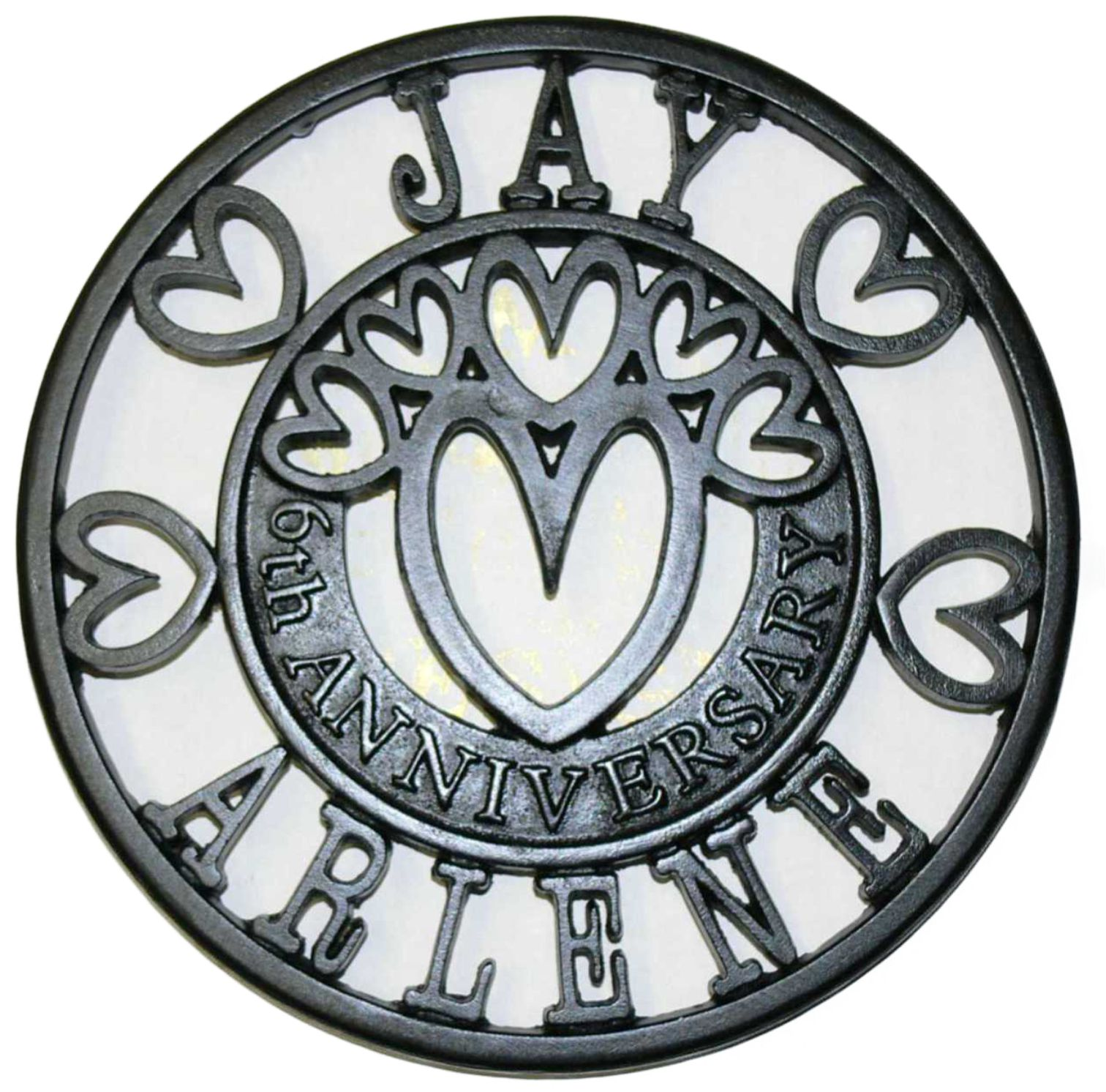Anniversary Trivets Personalised Bespoke Gifts Ideal For The 6th