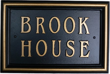 Large Cast Iron Brook House Name Sign Custom Made By