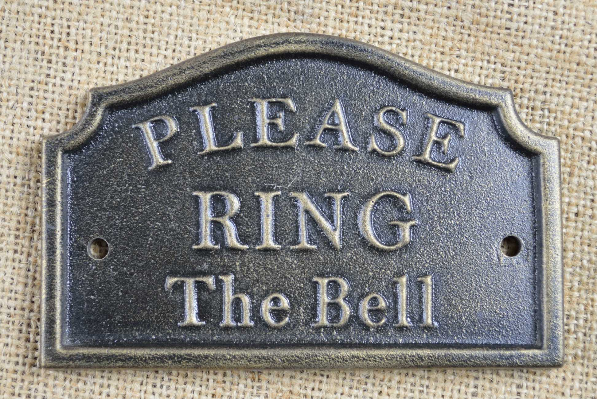 We Are At Home Please Ring The Bell