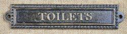Toilets cast iron plaque