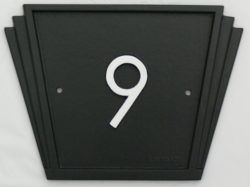 house number Signs art deco style
