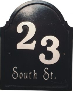 House Number Sign solid cast iron