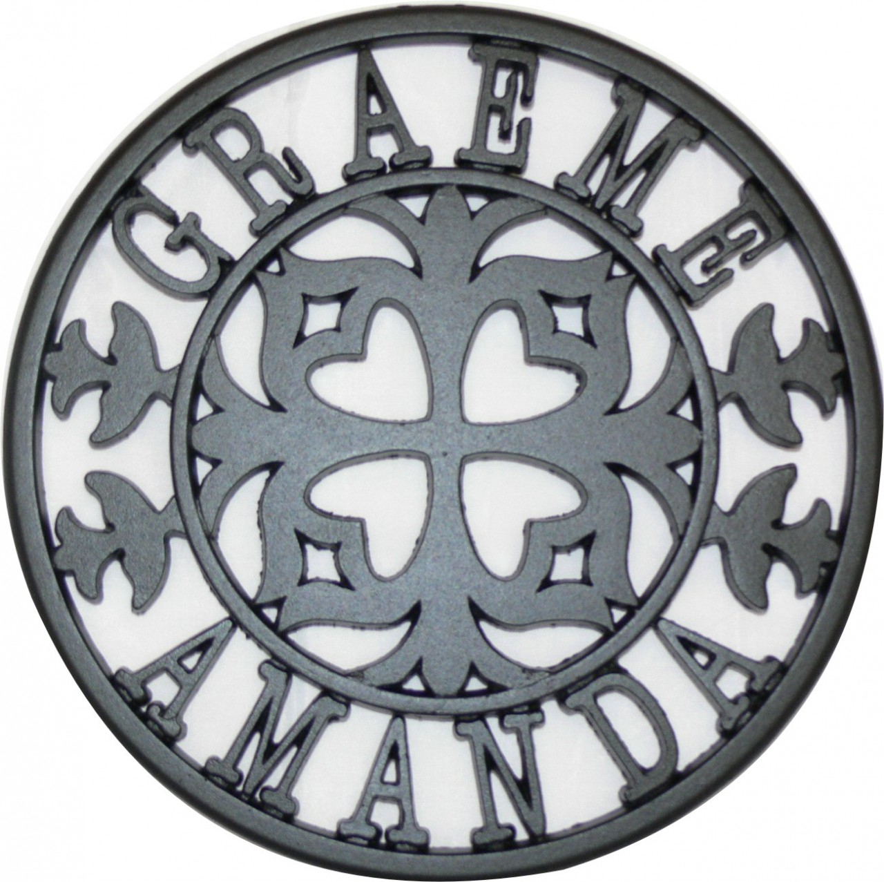 Personalised Cast Iron Trivets Lumley Designs