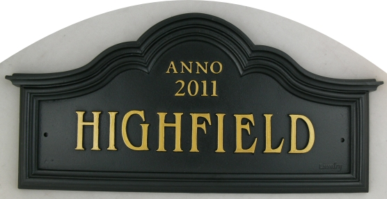 Traditional cast iron house name sign custom made by for House sign designs