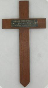 memorial wooden cross