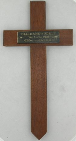 memorial wooden cross