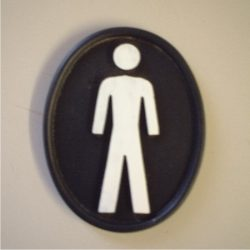 Toilet sign plaque