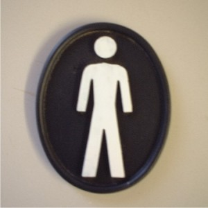 Toilet sign plaque