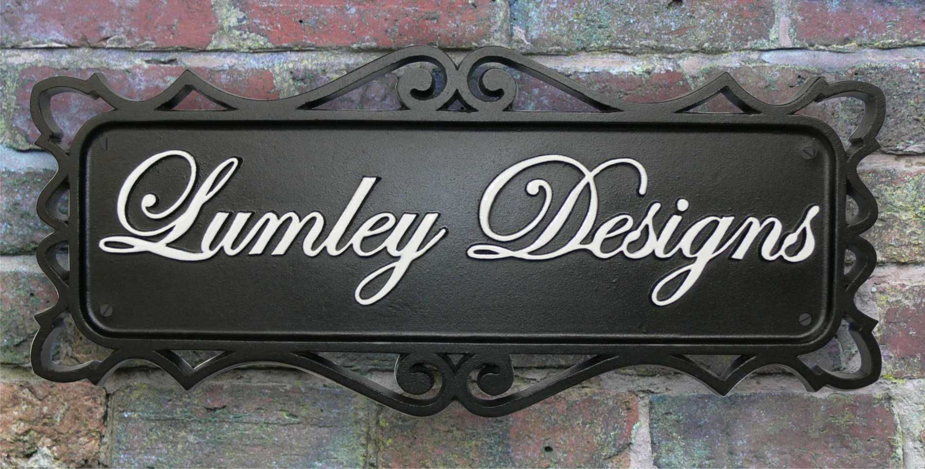 Cast iron coalbrooke house sign personalized by lumley for House sign designs