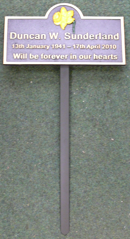 Memorial Plaques Personalized In Solid Cast Iron With