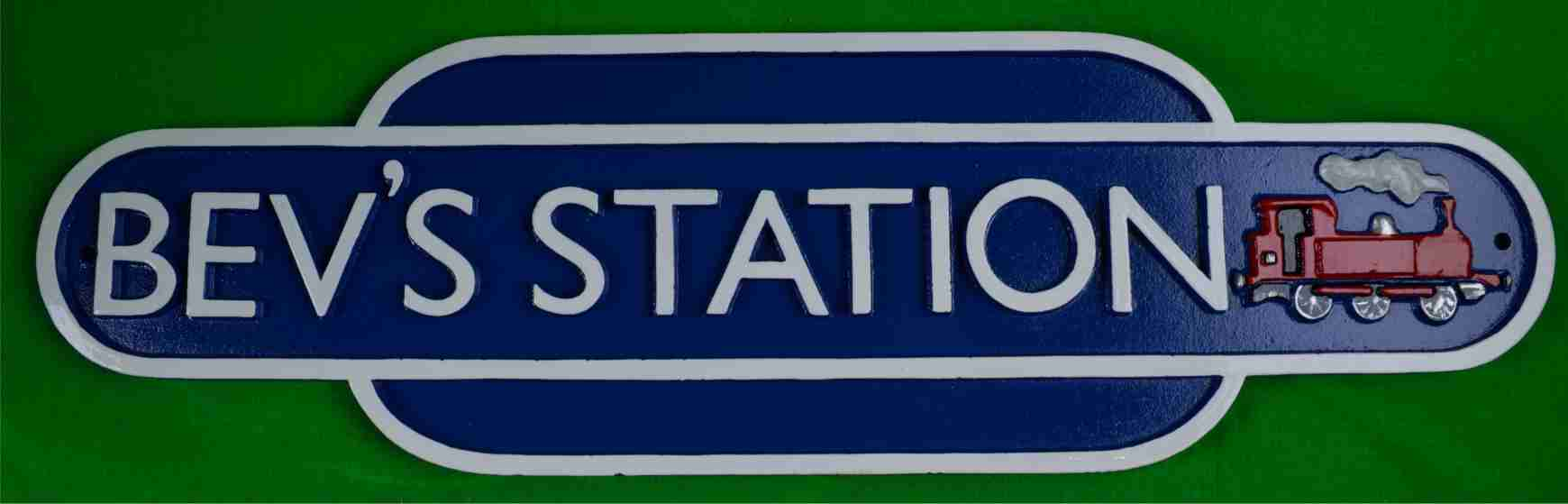 British Railway Logo Name Sign Solid Cast Iron By Lumley