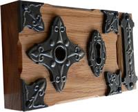 Tudor style oak rim lock