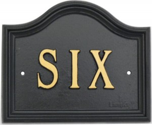 Traditional house number sign