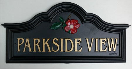 Traditional Cast Iron House Name Sign Custom Made By